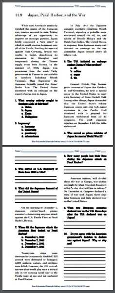 The War to End All Wars Worksheet Answers Key with World War Ii Pacific Puzzles Worksheet