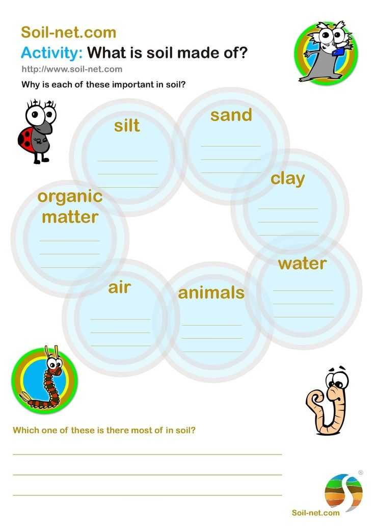 Third Grade Science Worksheets Also Grade Gardening soil Google Search Funlearning
