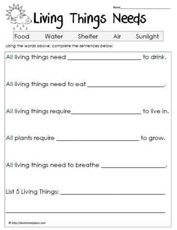 Third Grade Science Worksheets Also Science Worksheets Living Vs Non Living Worksheets