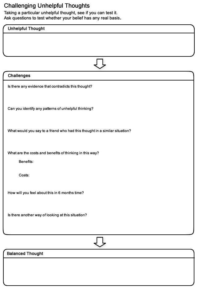 Thought Stopping Worksheet together with 175 Best Work Images On Pinterest