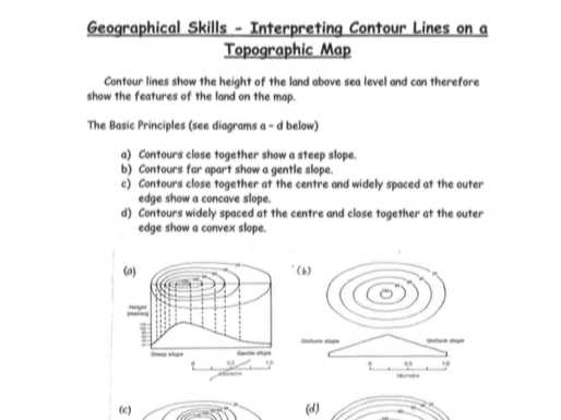 Topographic Map Reading Worksheet Answer Key together with topographic Map Reading Worksheet Answers the Best Worksheets Image