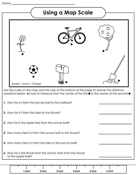 Topographic Map Worksheet Answer Key Also Scale Factor Worksheet Scale Factor Worksheets for Middle School