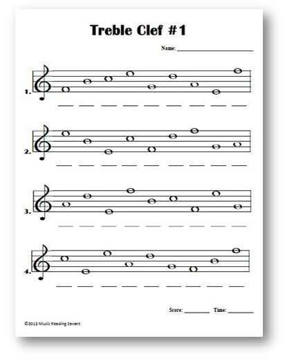 Treble Clef Worksheets and 768 Best основы нотной грамоты Images On Pinterest
