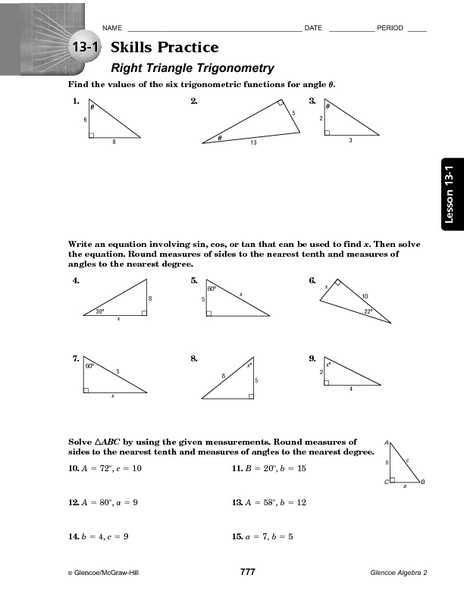 Trigonometry Ratios In Right Triangles Worksheet as Well as Worksheets 50 Beautiful Trigonometric Ratios Worksheet High