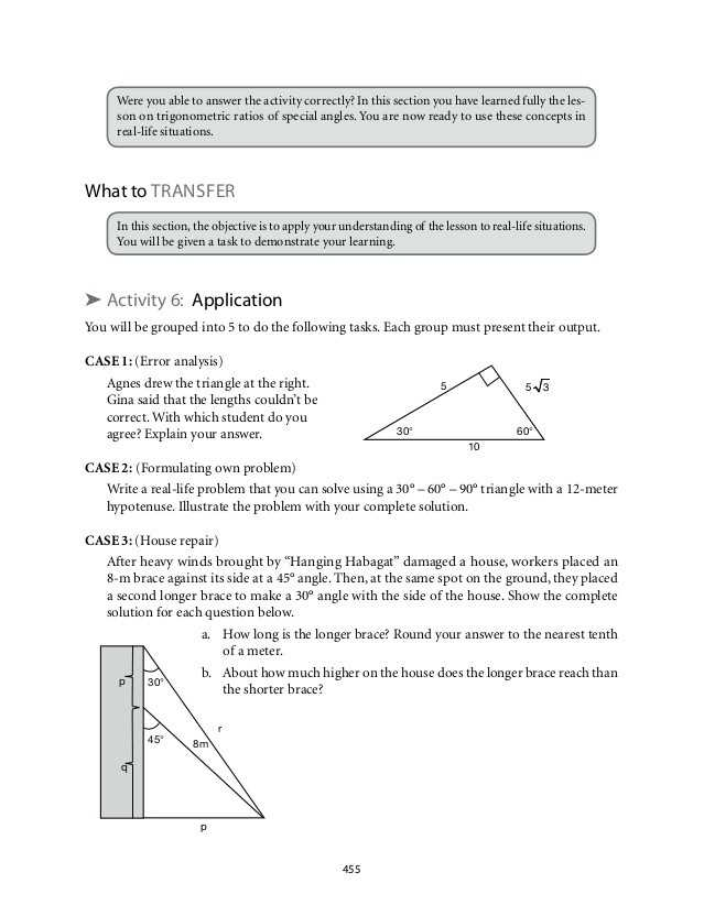 Trigonometry Ratios In Right Triangles Worksheet with Special Right Triangles Worksheet with Answers Gallery Worksheet