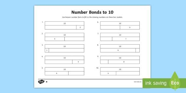 Types Of Bonds Worksheet Also Number Bonds to 10 Teaching Resources Ks1
