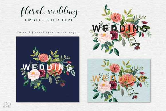 Types Of Floral Arrangements Worksheet and Watercolor Flower Clipart Paprika Illustrations Creative Market