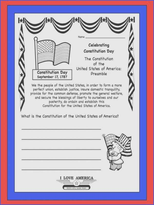 United States Constitution Worksheet Along with Constitution Worksheet