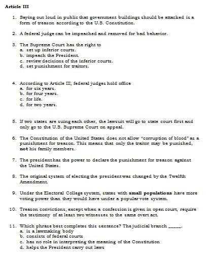 United States Constitution Worksheet Also 23 Best United States Constitution Worksheet Answers Gallery