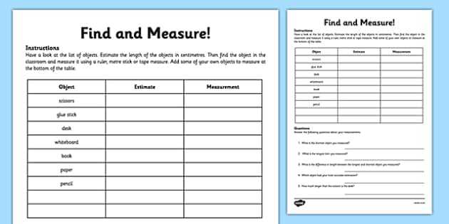 Using A Metric Ruler Worksheet Along with Measure and Begin to Record Lengths and Heights 2014