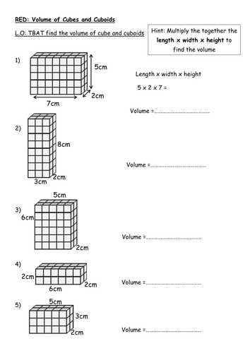 Volume Of Prisms Worksheet Along with Finding the Volume Of A Cuboid Rag by Rishna S Teaching Resources