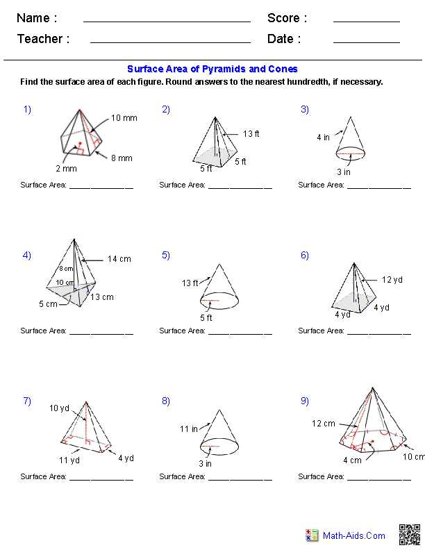 Volume Of Prisms Worksheet together with Geometry Worksheets and Answers Worksheets for All
