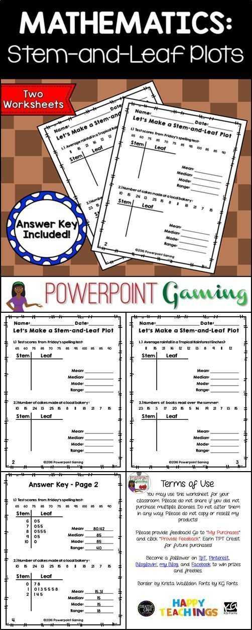 Walden Worksheet Answers or Making A Stem and Leaf Plot with Mean Mode Median Range Worksheet