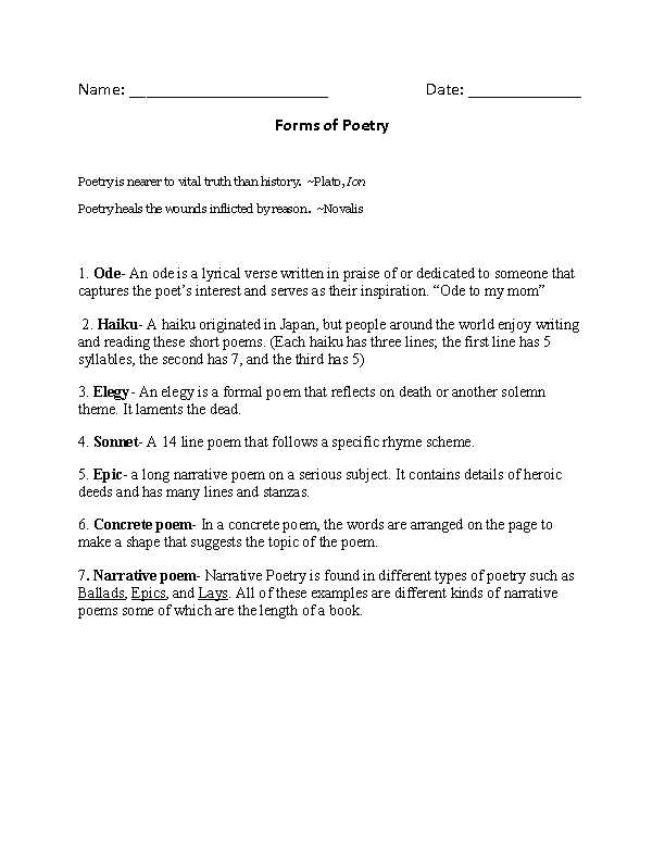 Warm Up to Paradox Worksheet Answers Also I Am A Person who Outline 1 Poetry Worksheet Sfd