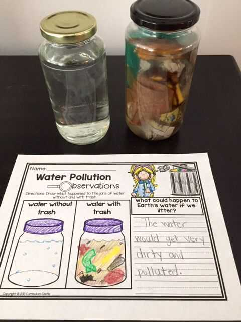 Water Pollution Worksheet and Earth Day Mini Unit Activities and Printables