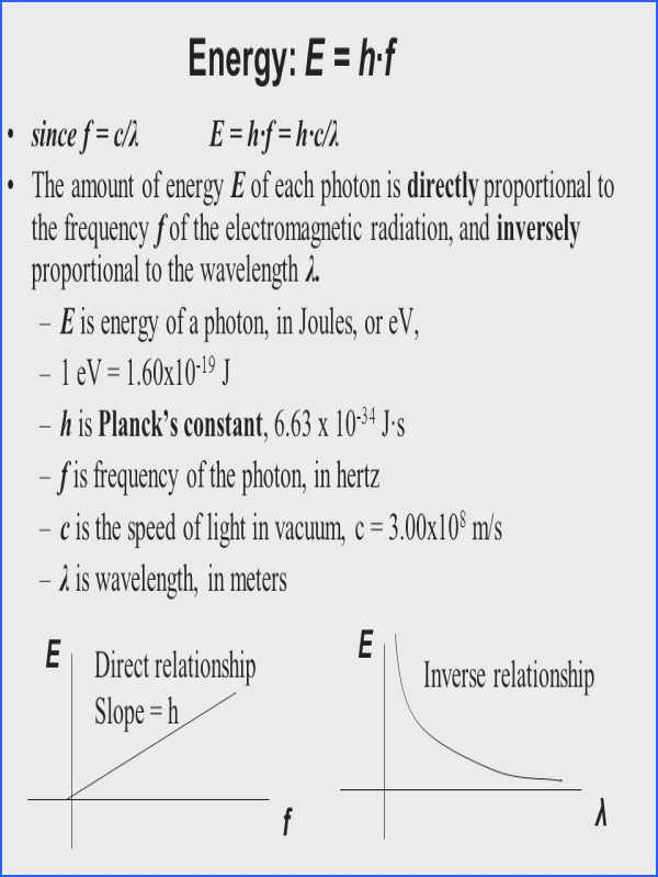 Wavelength Frequency and Energy Worksheet as Well as Wavelength Frequency and Energy Worksheet