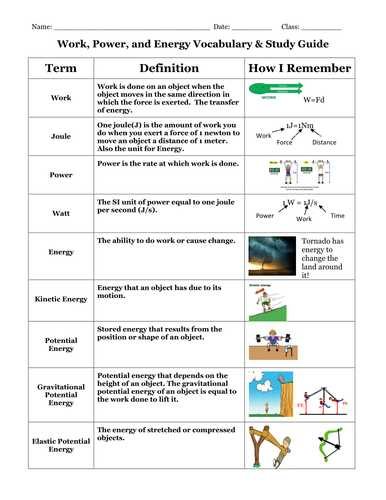 Work Power and Energy Worksheet as Well as 40 Awesome Worksheet 11 Bonding Vocabulary Review Sheet Answers