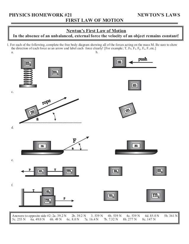 Worksheet 2 Drawing force Diagrams together with Home Worksheets Review