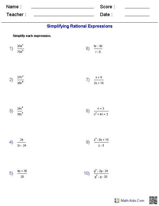 Worksheet 3 Systems Of Equations Substitution and Elimination Answers Also Simplifying Rational Expressions Worksheets