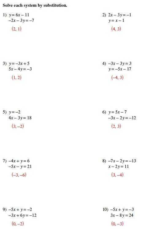 Worksheet 3 Systems Of Equations Substitution and Elimination Answers together with Worksheets 49 Awesome solving Systems Equations by Substitution
