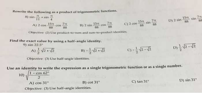 Worksheet the Basic 8 Trig Identities together with Trigonometry Archive November 30 2017