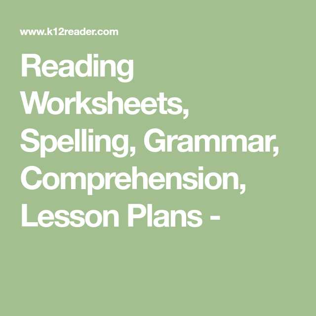 Worksheets for Dyslexia Spelling Pdf or Reading Worksheets Spelling Grammar Prehension Lesson Plans