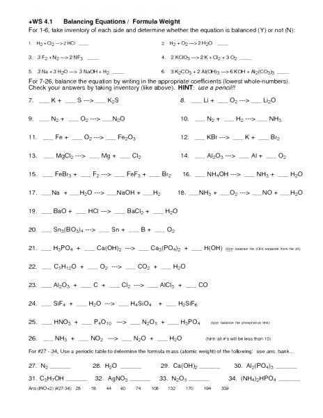 Writing Chemical formulas Worksheet Answer Key or Unique Balancing Equations Worksheet Answer Key Elegant Writing