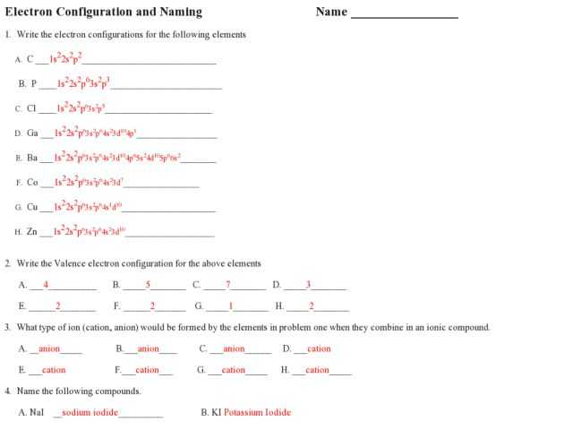 Writing Electron Configuration Worksheet Answers or Worksheets 43 Beautiful Electron Configuration Worksheet Answers