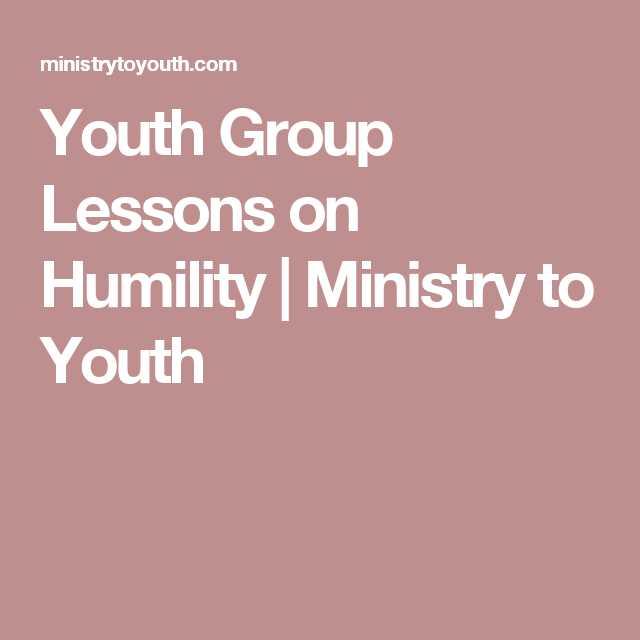 Youth Ministry Budget Worksheet Also Youth Group Lessons On Humility Ministry to Youth