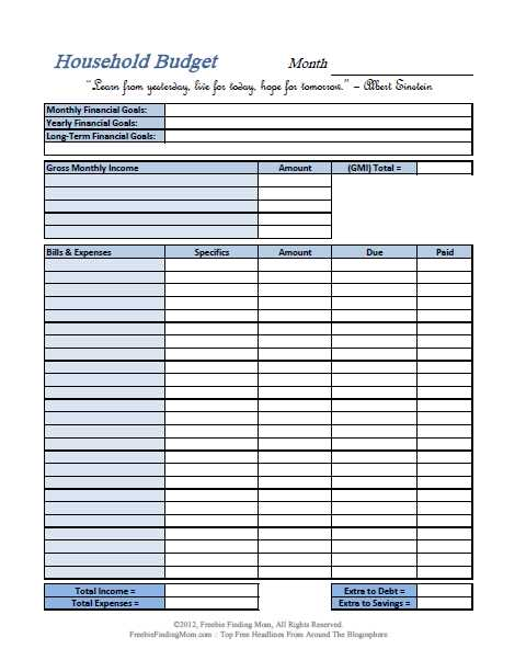 Youth Ministry Budget Worksheet with Free Printable Bud Worksheets – Download or Print