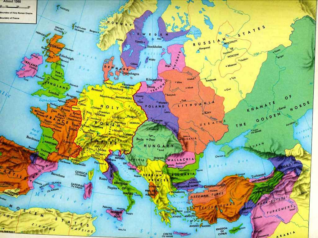 14th Century Middle Ages Europe Map Worksheet or 90 1500 Europe Late Middle Ages at Map Renai