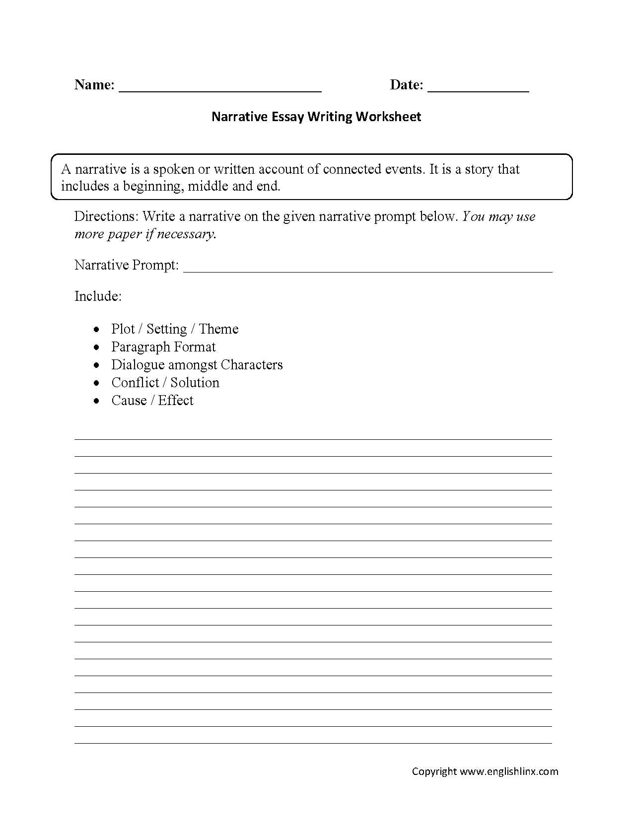 3rd Grade Essay Writing Worksheet and Term Papers Writing Help