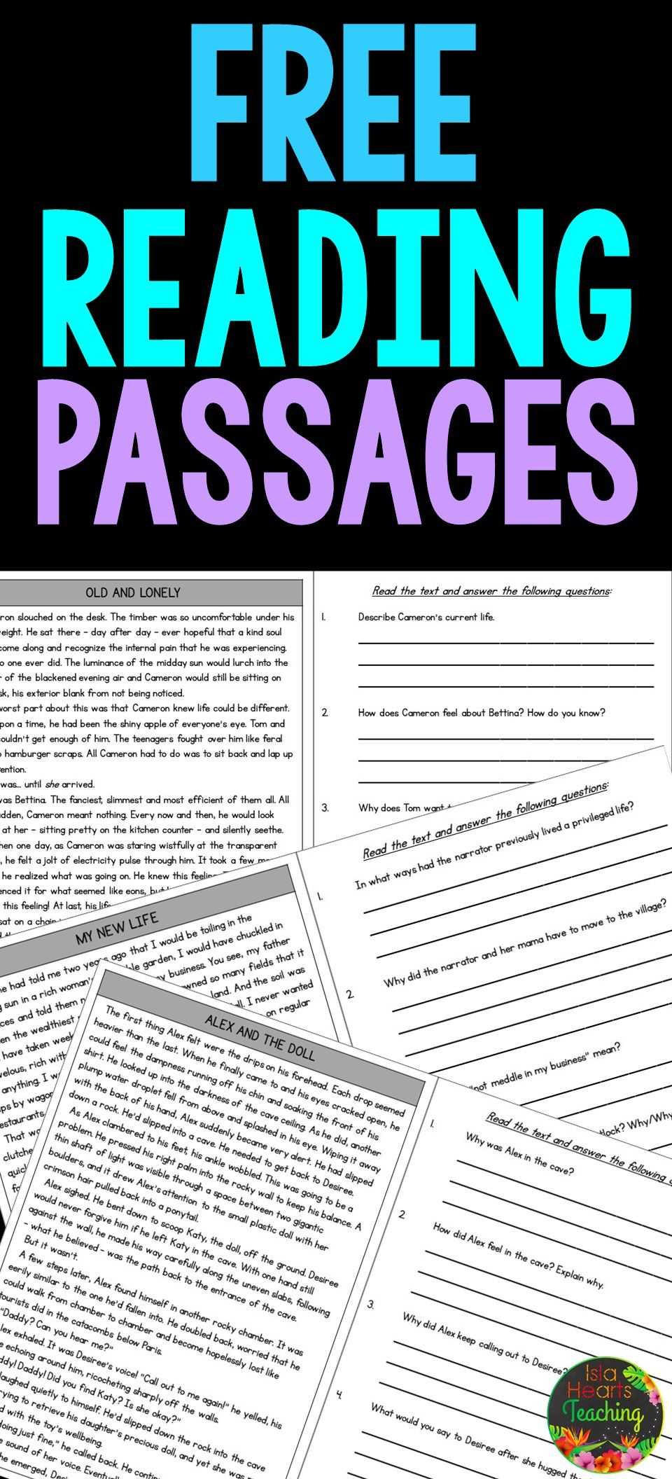 4th Grade Reading Comprehension Worksheets Multiple Choice as Well as Free Reading Prehension Passages and Questions for Students In
