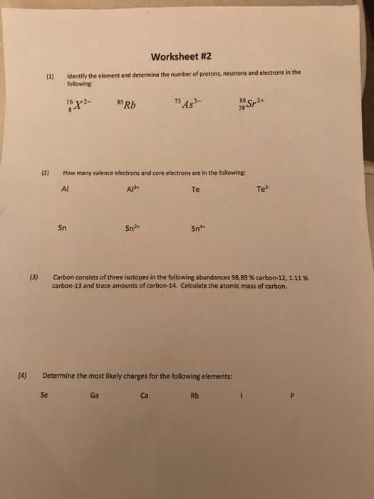 Abundance Of isotopes Chem Worksheet 4 3 Answers Also Chemistry Archive February 12 2018
