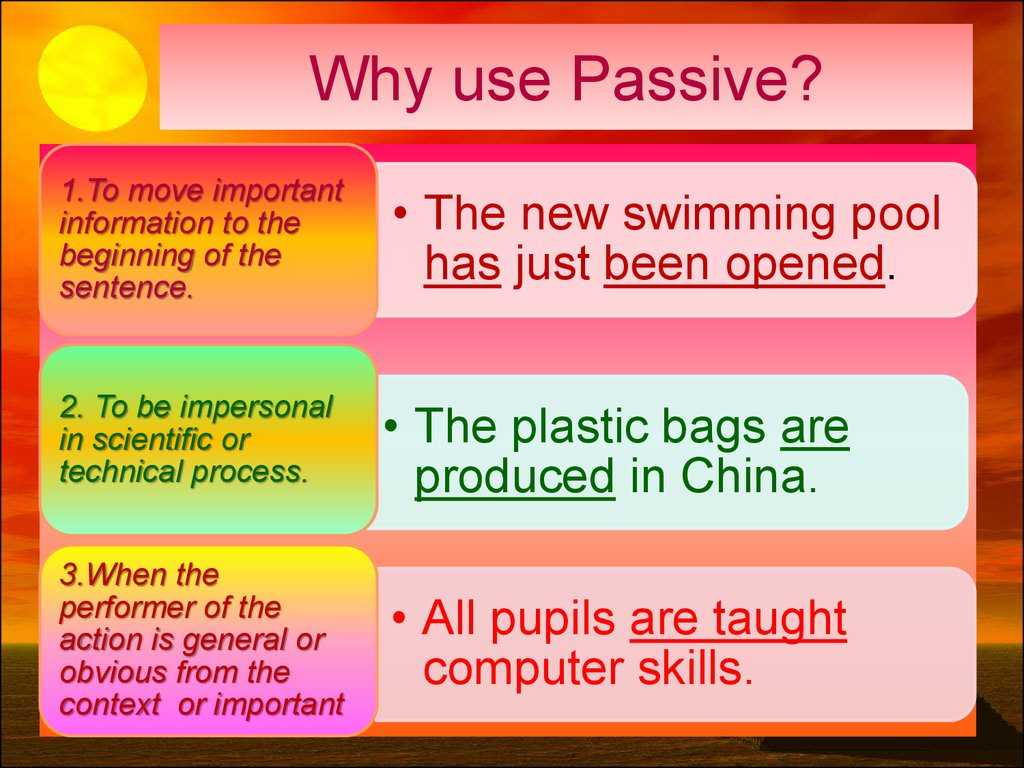 Active and Passive Transport Worksheet Answers or the Passive Voice formation Of the Passive Voice to Be V3
