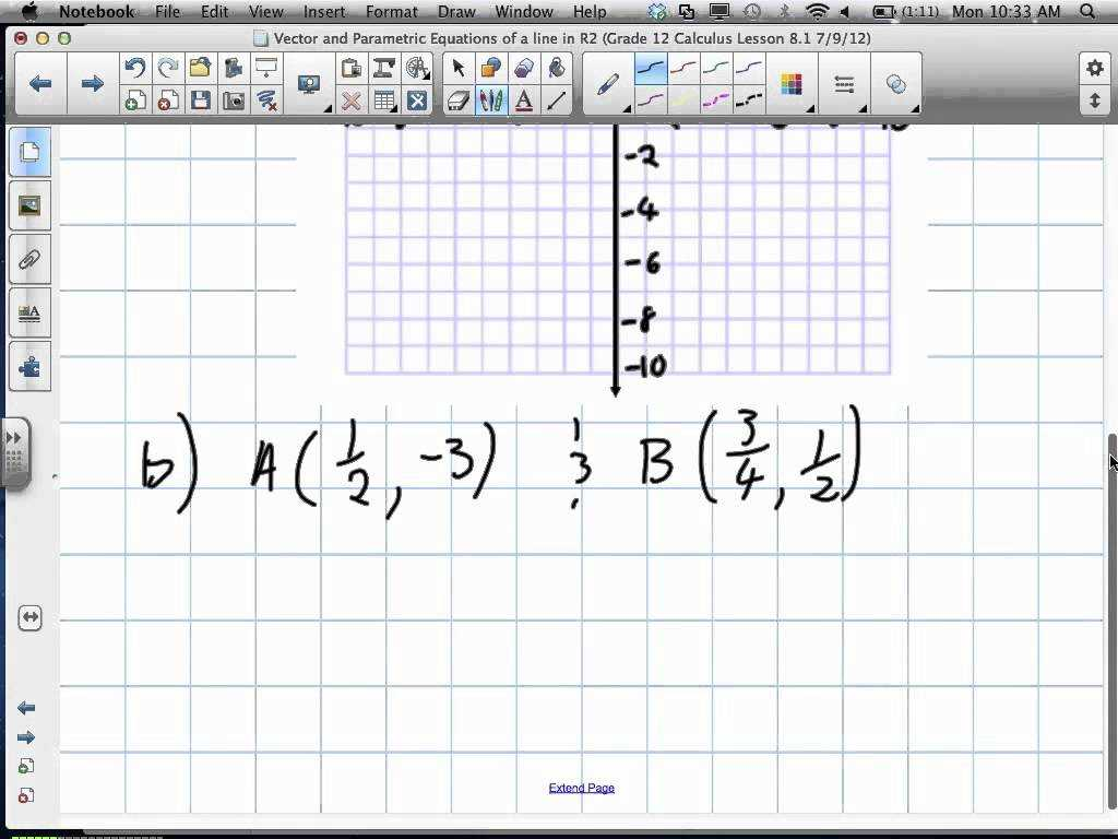 Adding and Subtracting Equations Worksheet as Well as Vector and Parametric Equations Of A Line In R2 Grade 12 Cal