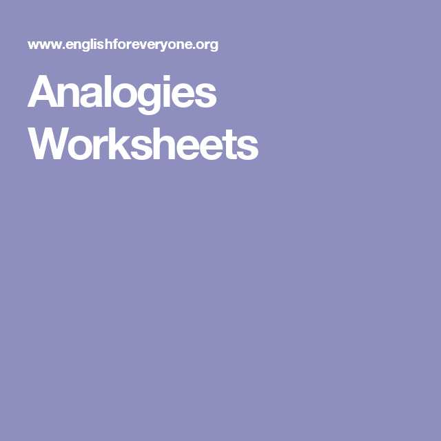Analogy Worksheets for Middle School and Analogies Worksheets Analogies Pinterest