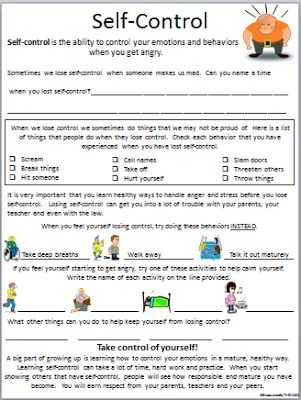 Anger Management Worksheets for Kids Pdf or 778 Best Counseling Worksheets Printables Images On Pinterest