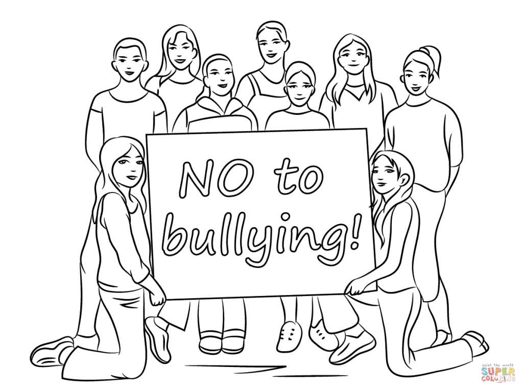Anti Bullying Worksheets Along with Bullying Coloring Page Free Printable Coloring Pages Mcolo