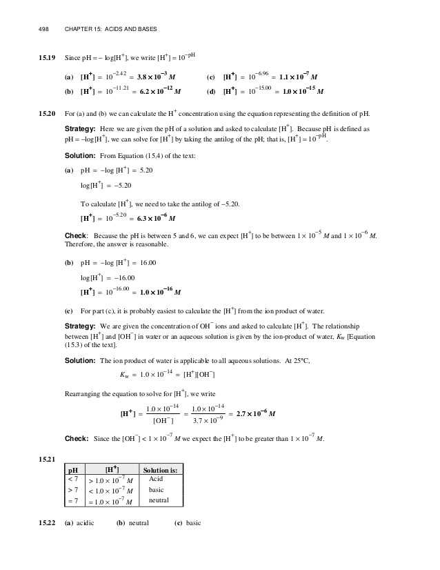 Ap Chem solutions Worksheet Answers Also Chang Chemistry 11e Chapter 15 solution Manual