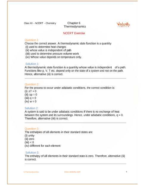 Ap Chem solutions Worksheet Answers or Ncert solutions for Class 11 Chemistry Chapter 6 thermodynamics