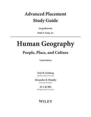 Ap Human Geography Worksheet Answers Also Human Geo Sample Chapter by John Wiley and sons issuu