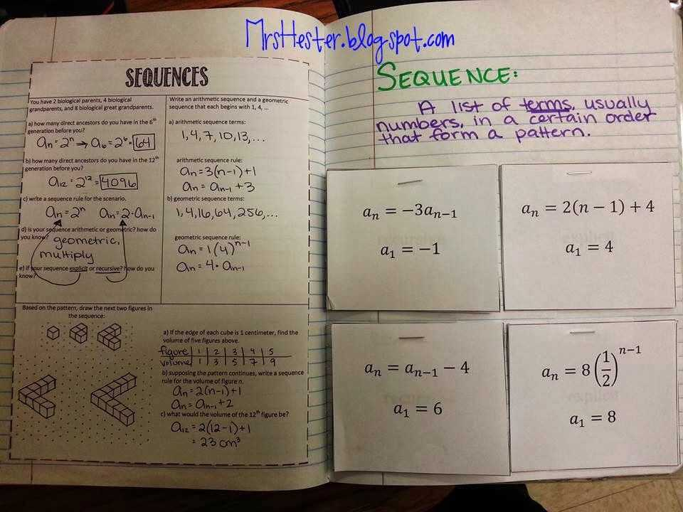 Arithmetic and Geometric Sequences Worksheet Pdf Also 92 Best Math Sequences Images On Pinterest