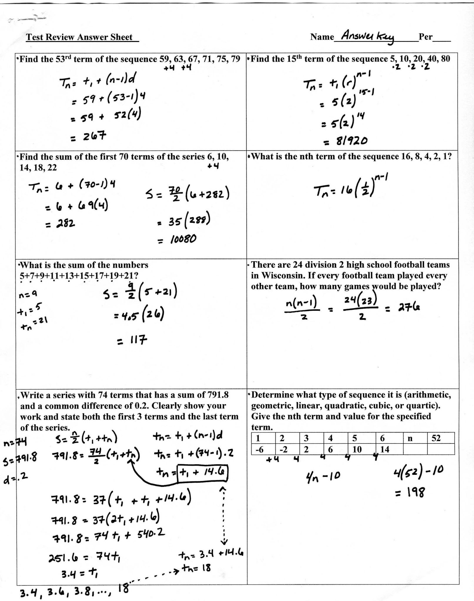Arithmetic Sequence Worksheet Along with Geometric Sequences and Series Worksheet Answers Beautiful Worksheet