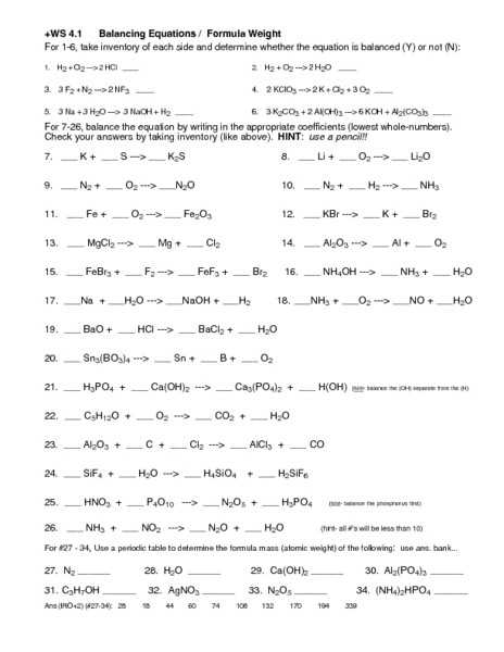 Balancing Chemical Equations Worksheet 1 Along with Balancing Chemical Equations Worksheet Grade 10 Unique Writing