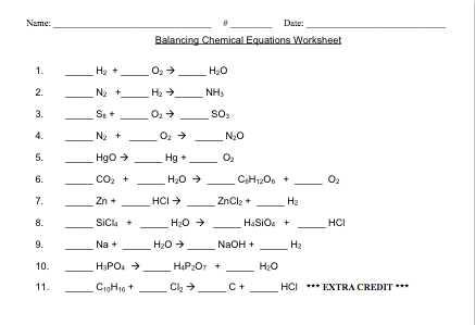 Balancing Chemical Equations Worksheet 1 and Easy Worksheet Balancing Chemical Equations Kidz Activities