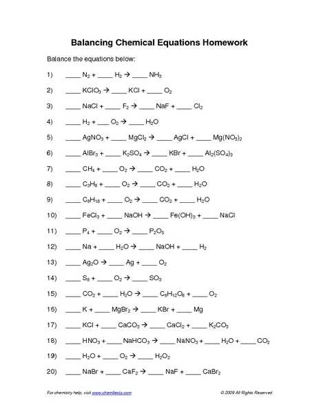 Balancing Chemical Equations Worksheet 1 as Well as Chemistry Problems Equations Worksheet Kidz Activities