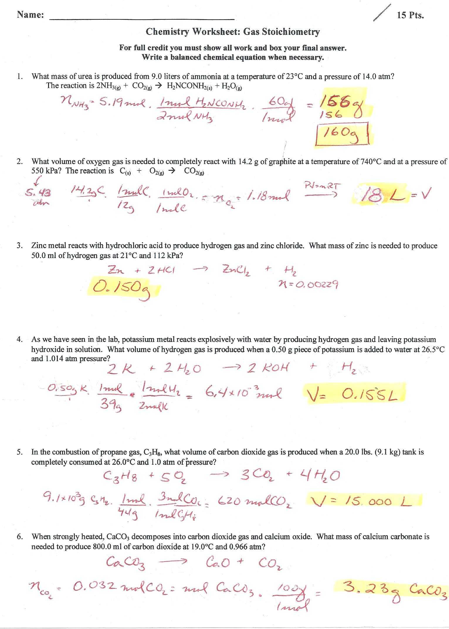 Balancing Chemical Equations Worksheet with Answers Grade 10 together with Stoichiometry Problems Chem Worksheet 12 2 Breadandhearth