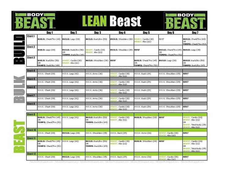 Body Beast Cardio Worksheet and 67 Besten Body Beast Bilder Auf Pinterest