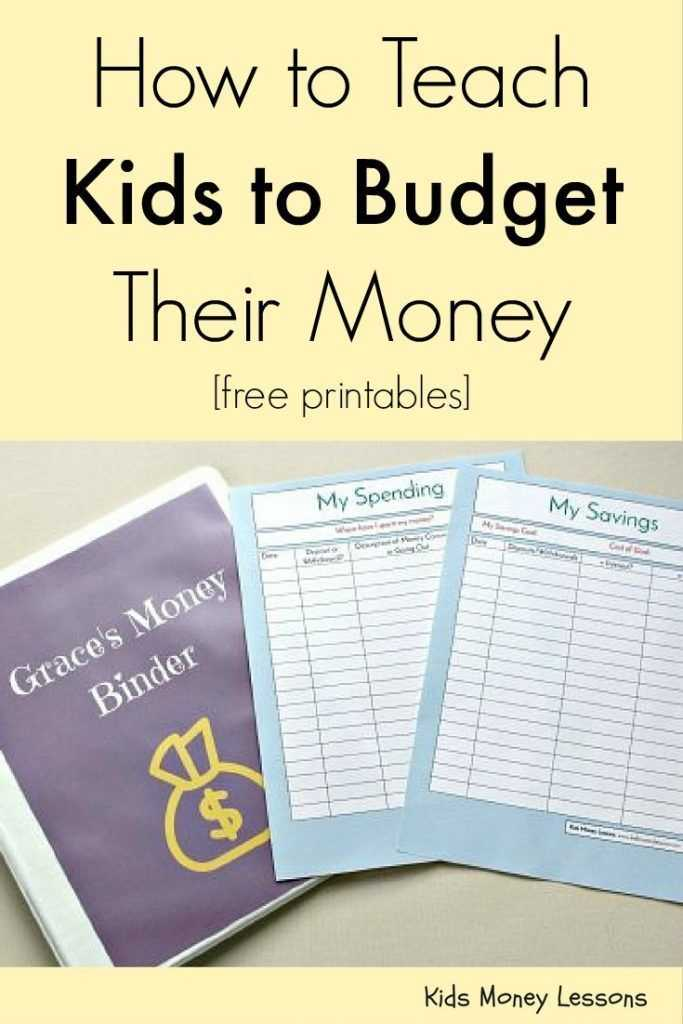 Budget Worksheet for Kids Also How to Teach Your Kids to Bud their Money [with Free Bud Ing